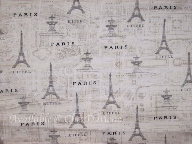 Fabric - Paris map fabric